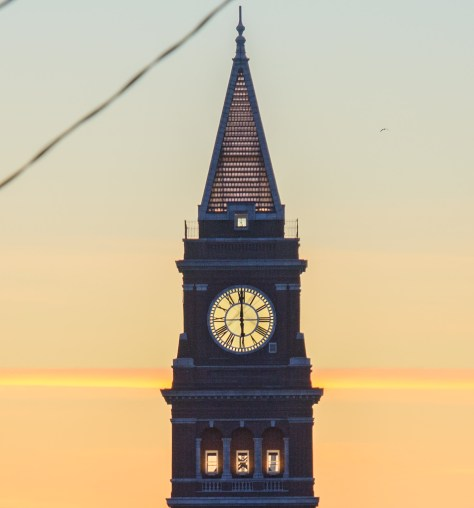 Clock tower close-up