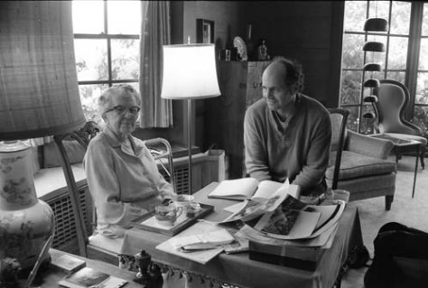 Lucy Campbell Coe in her Washington Park Home ca. 1985 - with a student.