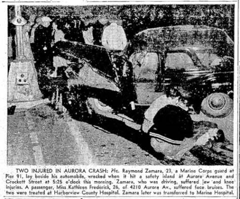 Again near Crockett, this time two injured.  In The Times, August 25, 1950.