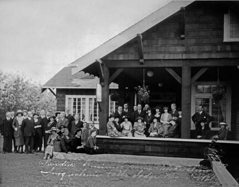 Swedish Business Men's Association at the Snoqualmie Falls Lodge, May 14, 1921. By
