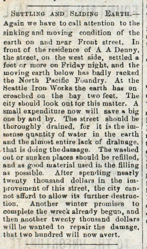 A Daily Intelligencer report on the condition of the same block published on January, 18, 1880.  (Courtesy, Ron Edge)
