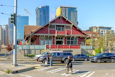 NOW: Since the Sons and Daughters moved on to larger clubhouses, their first Norway Hall has given shelter to the Painter's Union and dance clubs, including the City Beat Disco in the 1980s and the Timberline in the 1990s, and now as Cornish School's Raisbeck Hall.