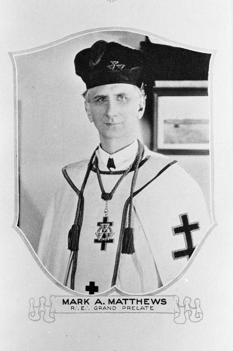 A Presbyterian pastor and a Knights Templar too, ca. 1925.