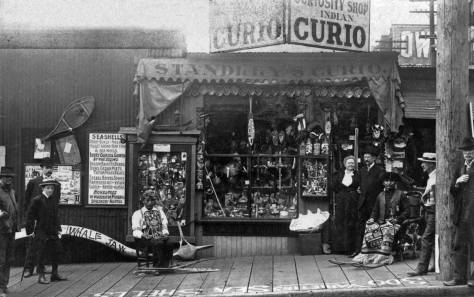 The first location for Ye Old Curiosity, on Madison near Western, ca. 1899.  (Courtesy, the Shop and Joe James.)