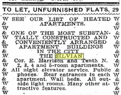 A TIMES classified for the nearly new Silvian from May 12, 1912.
