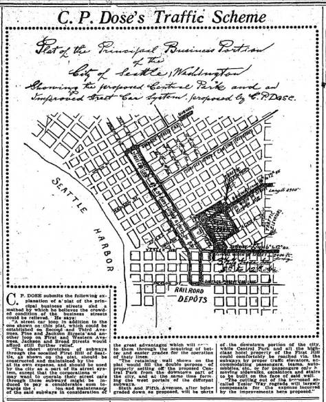 One of Dose's proposals for securing the neighborhood by making it part of his solution for the growing traffic congestion on downtown streets. That The Seattle Times printed his plans is a sign of his influence.