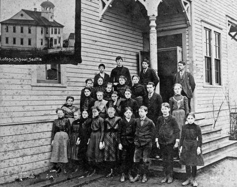 The original Latona school house sat near the center of the grounds.