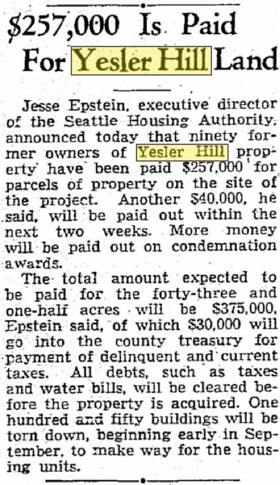 A clip from the Times from July 32, 1940.