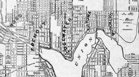 Still no Wallingford in this map of North shore communities, ca. 1899, but Brooklyn has come up and Edgewater too.