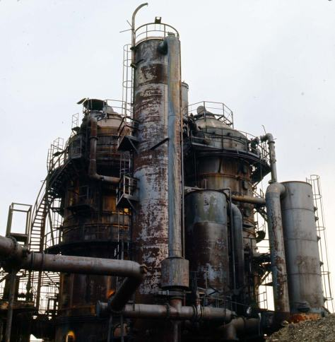 """Cracking tower Gasplant Park, Feb. 7, 1974."""