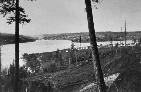 Another early 90s look from Capitol Hill to the northwest over Lake Union. This print was found in a mid-western antique shop, and the photographer is not identified - as yet.