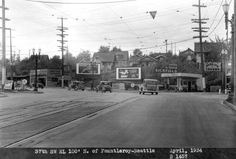 Looking west. from West Avalon Way to Fauntleroy Way SW in 1934, and heading for The Junction.
