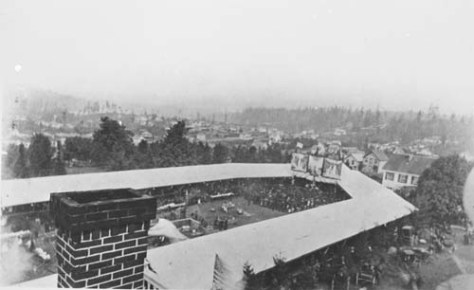 The campus barbaceu photographed from the main UW building.