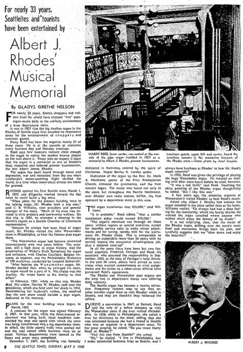 More about Rhodes and his organ. This from Times for May 8, 1960. Best to click this TWICE, although it may be too small for some eyes.