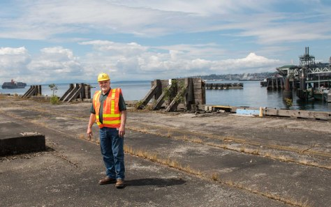 Marty Martin, facilities manager, DOT, on Pier 48