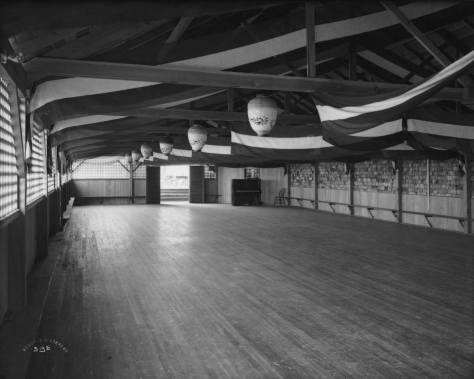 Alki nat's dance floor (and more) protected under the gabled roof at the east end of the natatorium.