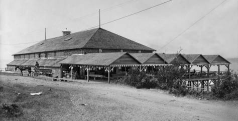 THEN: The first Alki Natatorium was built in 1905 at Alki Point eight years before the lighthouse. (Courtesy, Museum of History and Industry)