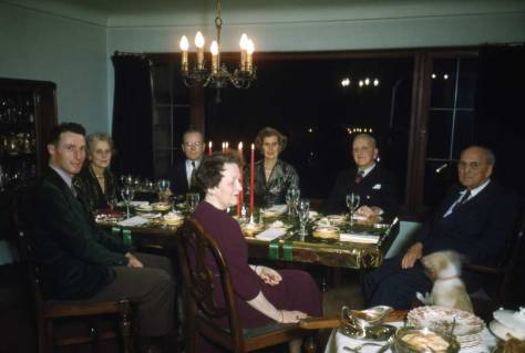 Horace is on the far-right of this probably timed photo of his family gathered for a Christmas of uncertain date.