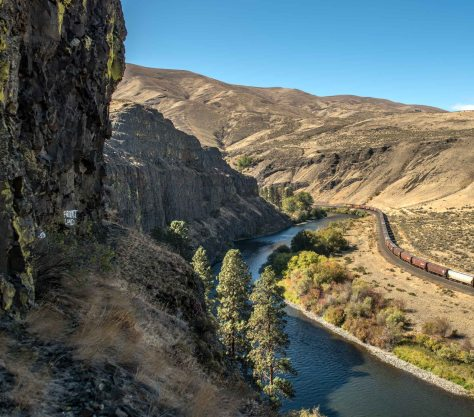 NOW: With some exploring, Jean Sherrard discovered that Paradise's prospect was only a few feet off the Yakima Canyon Road, a State Scenic Highway.