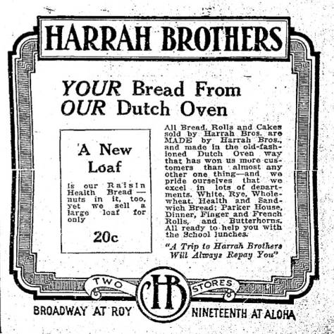 A Harrah ad from 1925