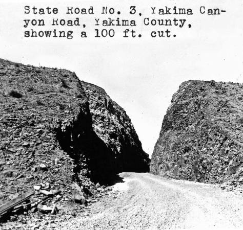 """A Washington Dept of Highways snapshot taken somewhere along the canyon road, perhaps even from """"our"""" cut."""