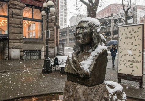 Evidence that Jean visited Pioneer Square during our recent flurry.
