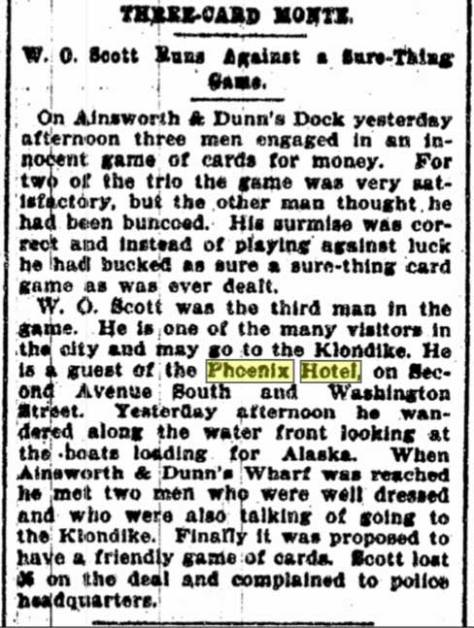 A clip from The Seattle Times for August 25, 1897.