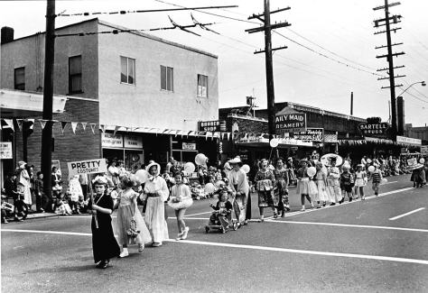 Wallingford Seafair kid's parade from early 1950s.