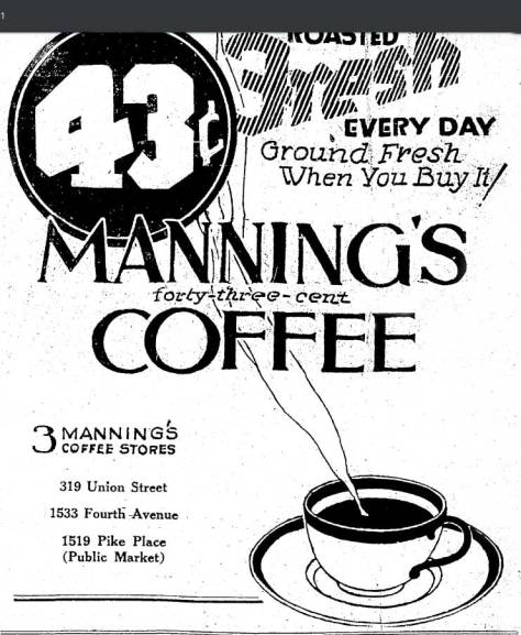 A Manning's ad pulled from The Times for April 1, 1925.