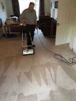 Residental wool carpet cleaning