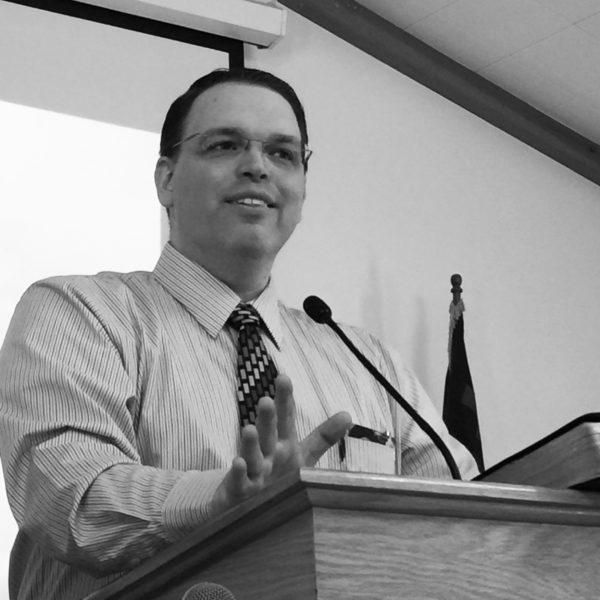 Paul E Chapman in pulpit