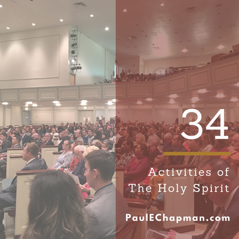 34 Activities of the Holy Spirit