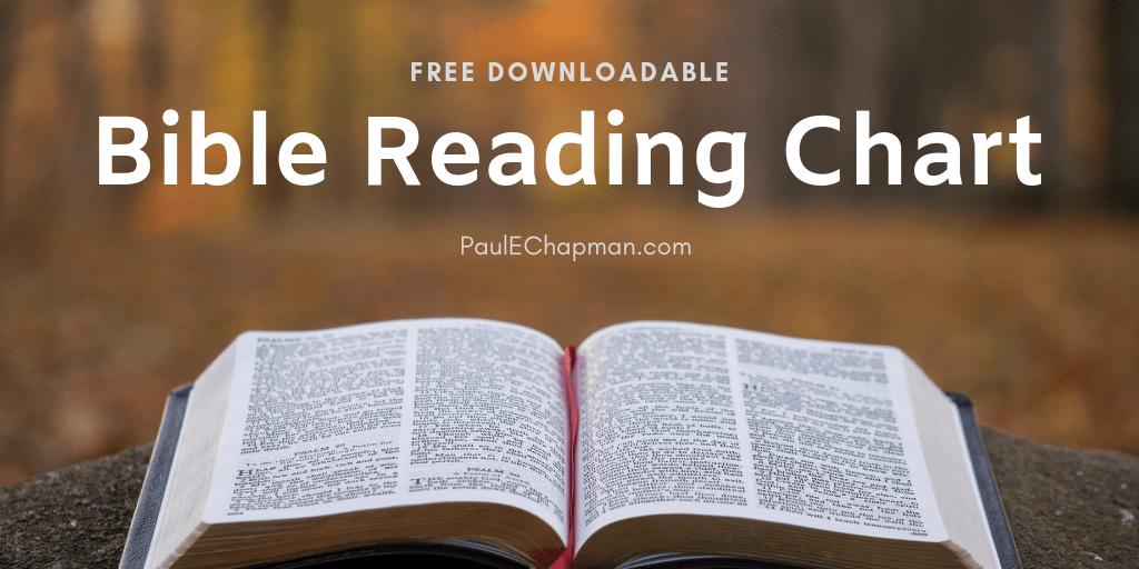 Free Downloadable Bible Reading Chart
