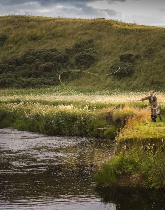 Fly fish in the Highlands