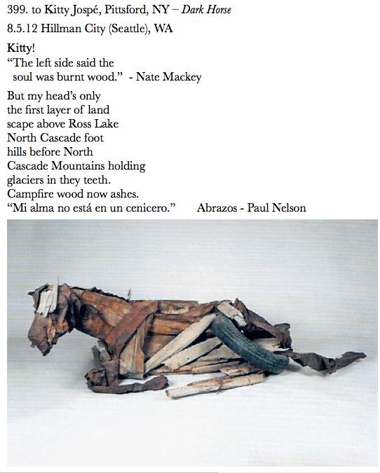 399. to Kitty Jospe, Pittsford, NY Dark Horse