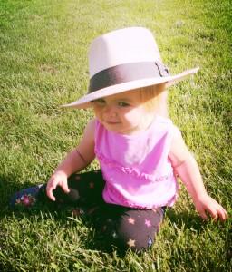 9.2.13 Ella w Daddy's hat