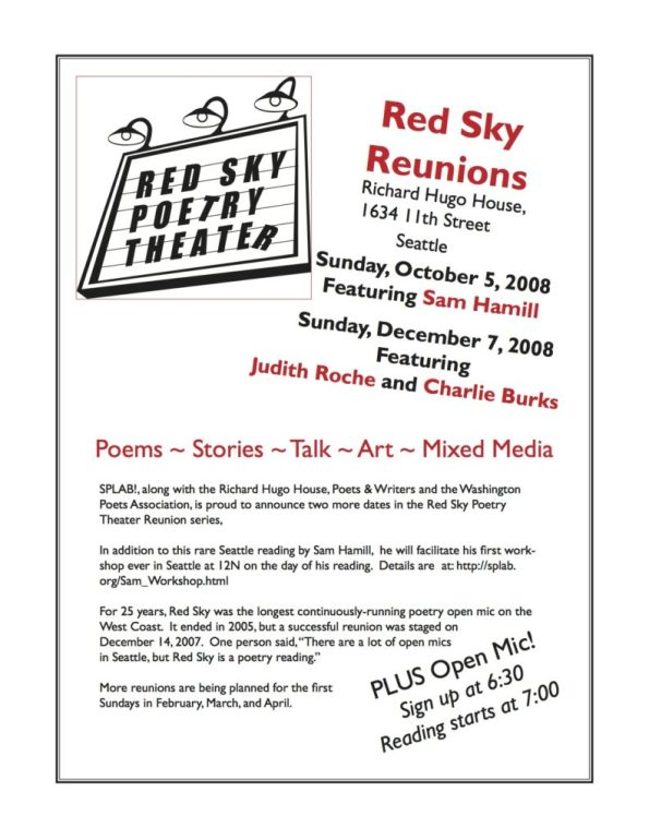 Red Sky Reunion Flyer