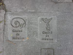 Stamped into the Sidewalk in Mexico City