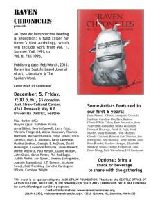 Anthology Reading Flyer