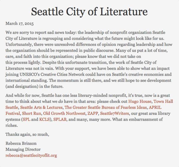 Seattle City of Literature