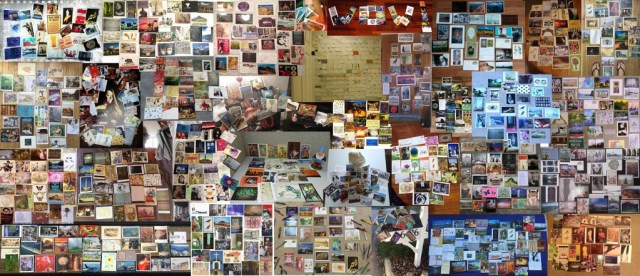 Postcard Collage Constructed by Kristin Cleage