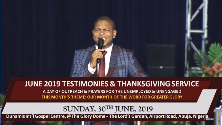 TESTIMONY AND THANKSGIVING SERVICE Dr Paul Enenche