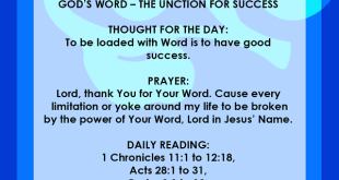 Seeds Of Destiny 11 July 2019 GOD'S WORD