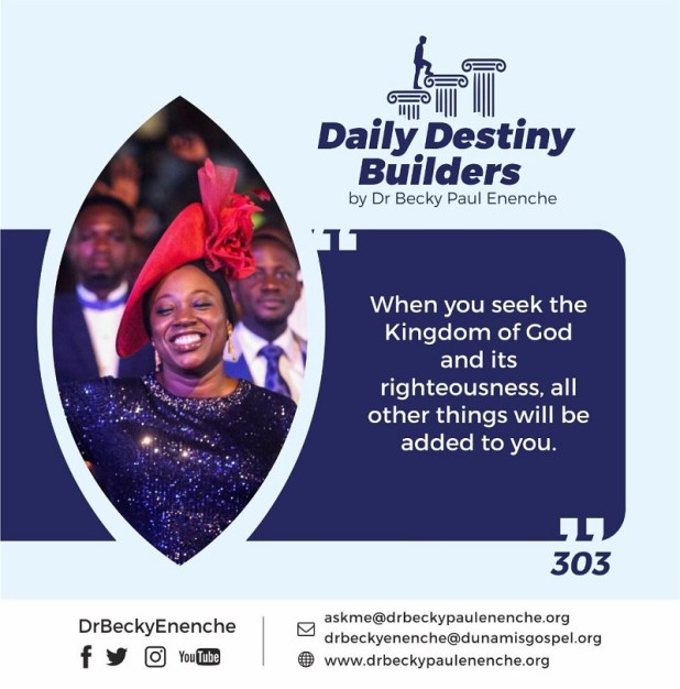 Dr Becky Paul Enenche Daily Destiny Builders