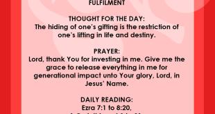 Seeds of Destiny 7 August 2019 Devotional