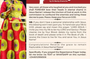 Daily Blessings By Mummy Dr Becky Paul Enenche