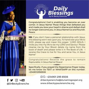 Daily Blessings 17th September Dr Becky Enenche