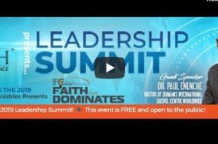 leadership summit 2019 Paul Enenche