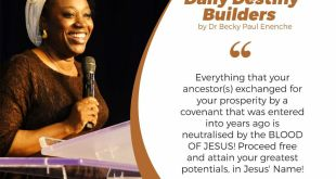 Daily Destiny Builder Dr Becky Enenche - It Does Not Matter