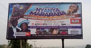 Dunamis : Nyanyan-Mararaba Salvation, Healing and Miracle Crusade